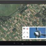 Verschillende datasets: Luchtfoto, locaties van windturbines en detail foto's uit drone.