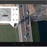 Verschillende datasets: Luchtfoto en detail foto's van beton pilaar uit drone.